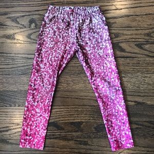 Zara Terez Girls Pink Star Leggings